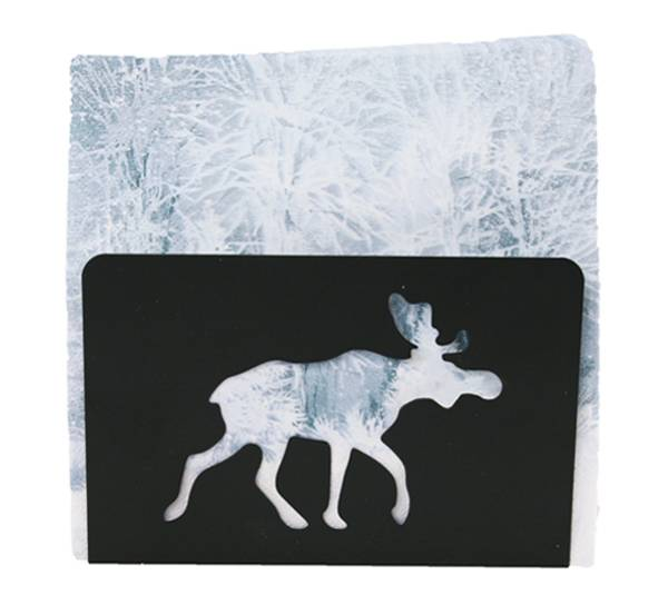 Bilde av Serviettholder med elg, sort