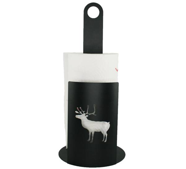 Bilde av Tørkerullholder med reinsdyr, sort