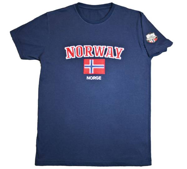 Bilde av T-skjorte, 'Norway', blå