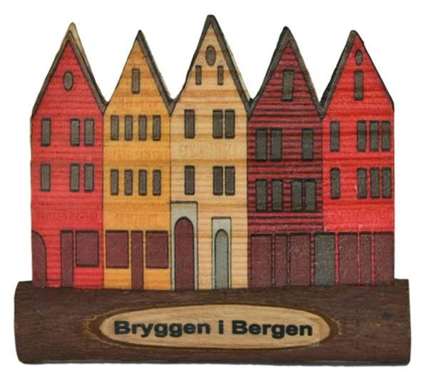 Bilde av Magnet, Bryggen i Bergen av tre