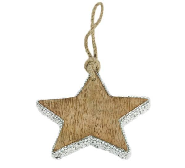 Bilde av Stjerne med sølvglitter, lite