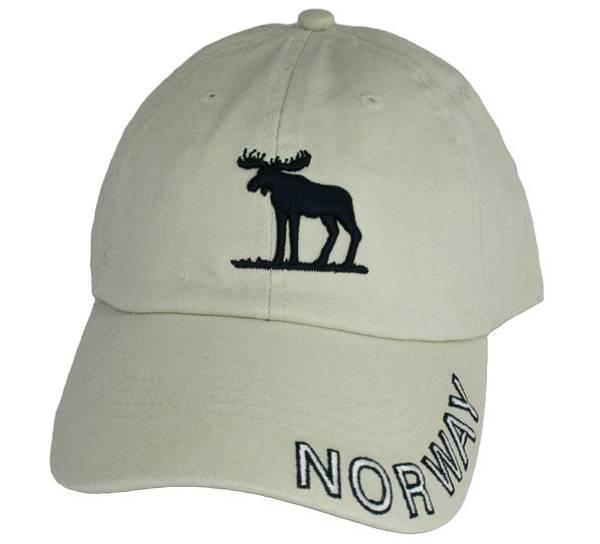 Bilde av Caps khaki med brodert elg Norway