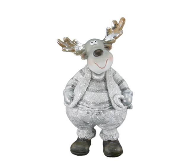 Bilde av Elg, glitrende sølv-hvit
