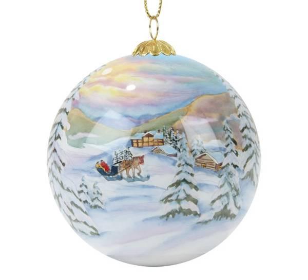 Bilde av Julekule håndmalt landskap  Bergerlind