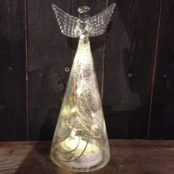 Bilde av Glassengel med LEDlys liten