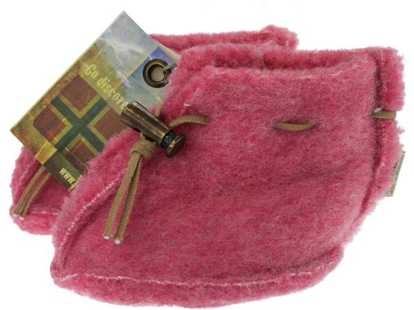 Bilde av Baby ulltøfler rosa