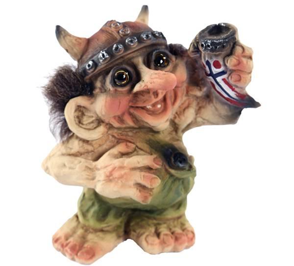 Bilde av Troll, vikingtroll med drikkehorn  (Troll nr.