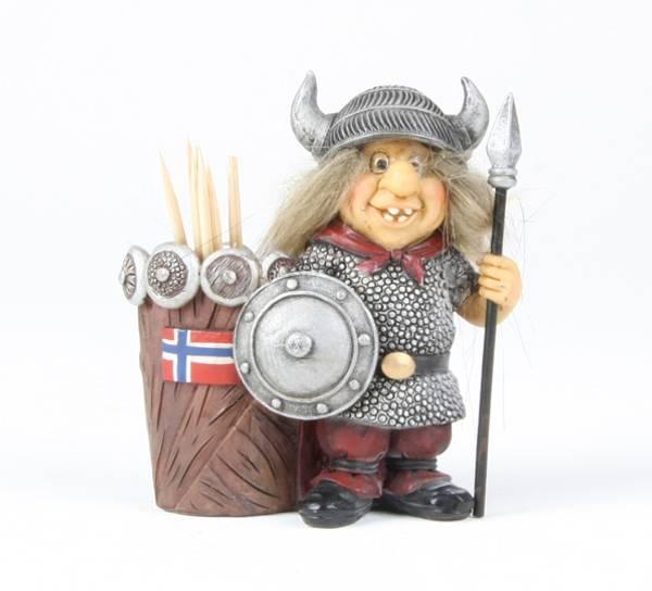 Bilde av Viking med tannpirkere Norskt flagg