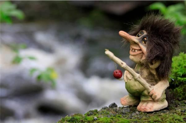 Bilde av Troll, fisker, liten (Troll nr. 069)