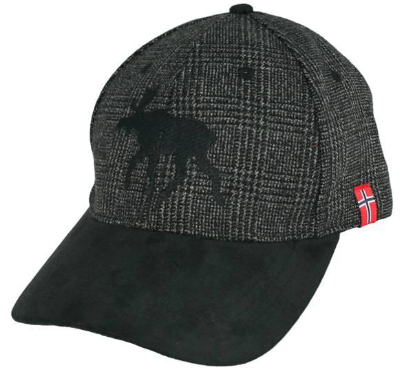 Bilde av Caps, grå med sort elg, tweed