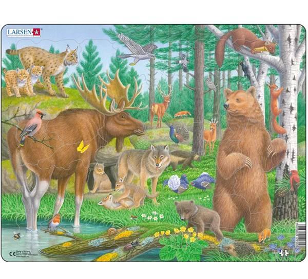 Bilde av Puslespill Skogsdyr 29 brikker