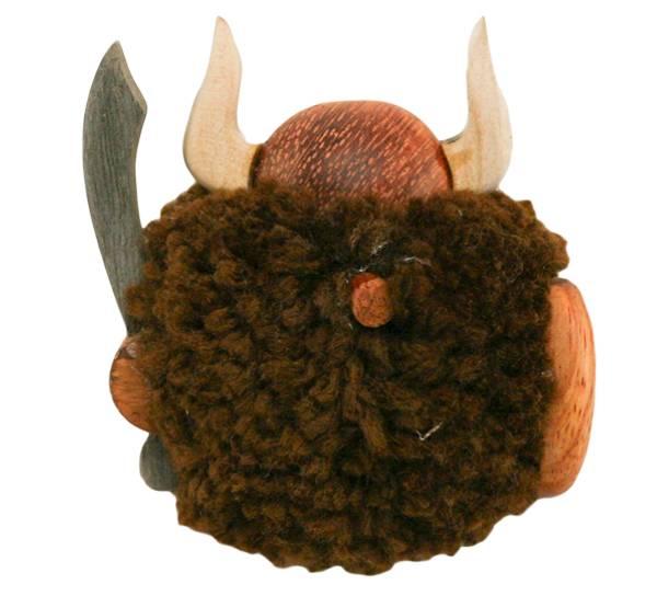 Bilde av Magnet, brun pompom viking