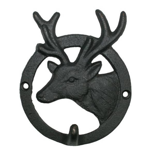 Bilde av Knagg, rund hjort, støpejern