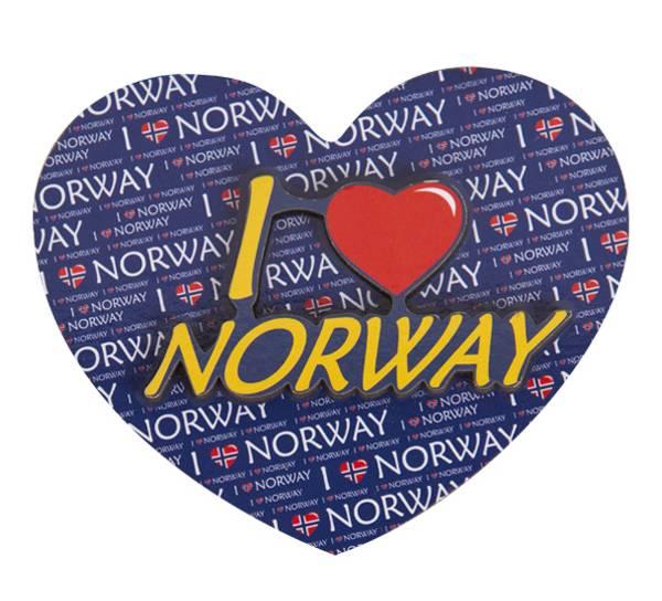 Bilde av Magnet, I love Norway, hjerte