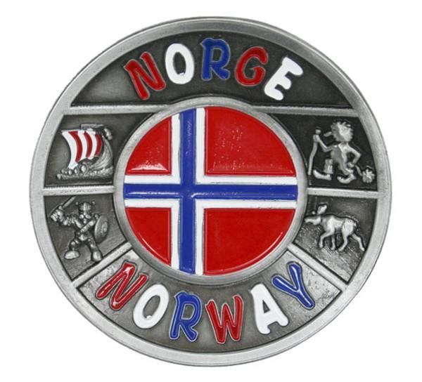 Bilde av Magnet, metall, Norway i flaggfarger
