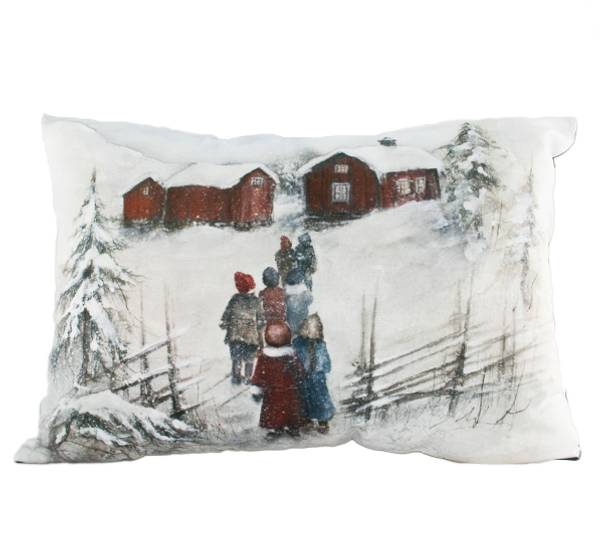 Bilde av Velourpute med fyll, gårdsbesøk, 'Vinterbarn'