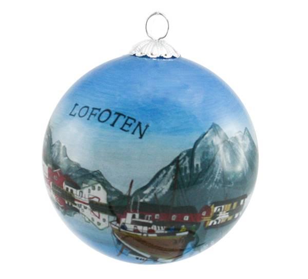 Bilde av Julekule håndmalt Lofoten