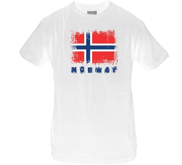 Bilde av T-skjorte. Norway, hvit