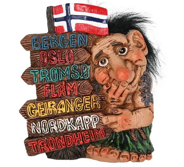 Bilde av Figur, Troll med stedsnavn
