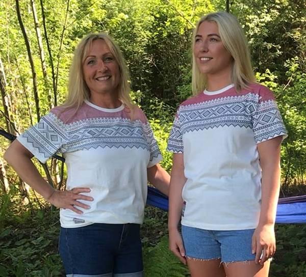 Bilde av T-skjorte med Mariusmønster, hvit